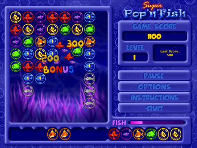 Super Pop'n'Fish - Something's fishy! A fun fast puzzle game!